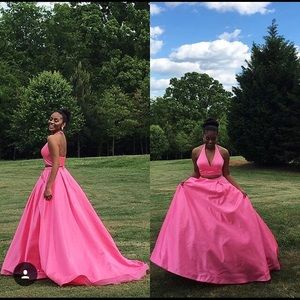 Sherri Hill pink gown size 0